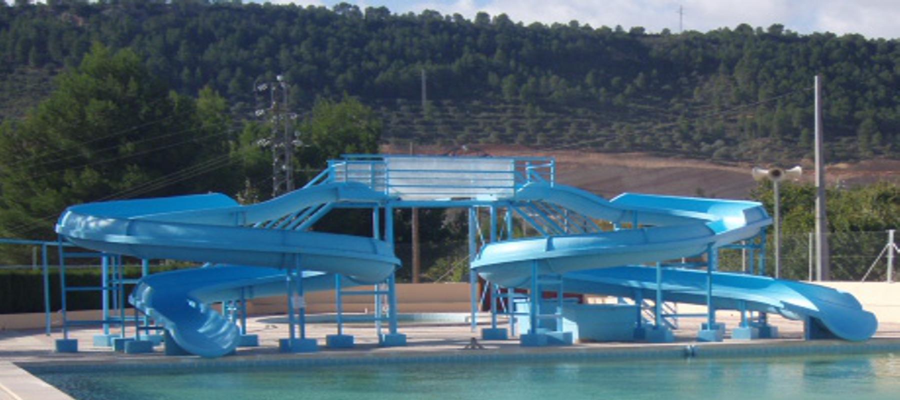 Accesorios para piscinas prefabricadas de poliester con - Toboganes de piscina ...